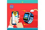 Детские смарт-часы с GPS трекером SK-004/G900A yellow, фото 4