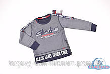Батник для мальчика (цв.серый) трикотажный BENETI 2619 Рост:86,92,98
