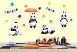 Интерьерные наклейки в детскую Панды, фото 3
