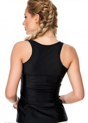 Чорна майка борцовка з еластику для спорту Issa Plus, фото 2