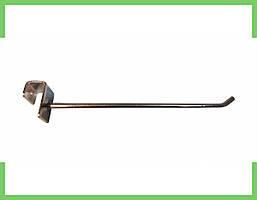 Крючок хромированный на перемычку (15 квадрат) 20 см