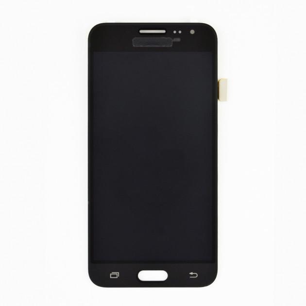 Дисплей (LCD) Samsung GH97- 18414C J320H Galaxy J3 (2016) с сенсором чёрный сервисный
