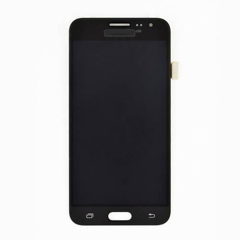 Дисплей (LCD) Samsung GH97- 18414C J320H Galaxy J3 (2016) с сенсором чёрный сервисный, фото 2