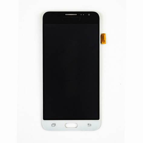 Дисплей (LCD) Samsung J320H/  DS Galaxy J3 (2016) TFT с сенсором белый  регулируется яркость, фото 2