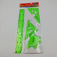 Набор линеек пластиковых силиконовых ''неломаек'' цветные 4 предмета (30 см)
