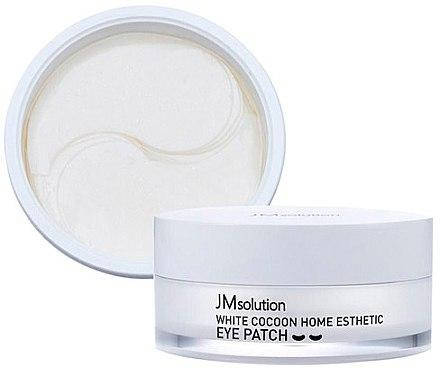 Гидрогелевые патчи с протеинами шёлка JMsolution Silky Cocoon Home Esthetic Eye Patch(Medium), фото 2
