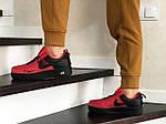 Жіночі кросівки Nike Air Force (червоно-чорні), фото 2