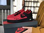 Жіночі кросівки Nike Air Force (червоно-чорні), фото 4