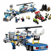 "Конструктор аналог лего Bela Urban 10422 (Lego City 60049) ""Перевозчик вертолёта"" (410 деталей)"