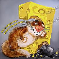 Схема для вышивки бисером мышь Сон и вкусная еда