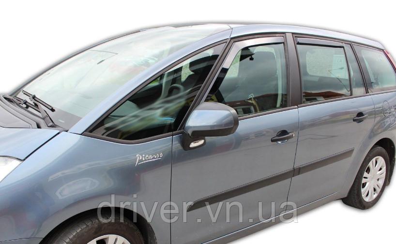 Дефлектори вікон вставні Citroen C4 Grand Picasso 5D 2007-> 4шт