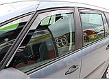 Дефлектори вікон вставні Citroen C4 Grand Picasso 5D 2007-> 4шт, фото 5