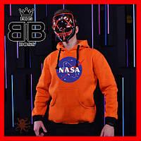 Мужской худи от NASA оранжевый.