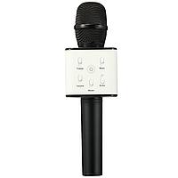 Беспроводной Микрофон Q7 С ЧЕХЛОМ ЧЕРНЫЙ Караоке и динамик Bluetooth