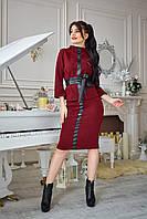 Модный костюм с поясом из эко-кожи.Разные цвета., фото 1