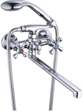 Смеситель ZEGOR ванная длинный DFU7-A827 (лат), фото 2