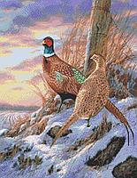 Схема для бисера А-2 птицы, пейзаж Фазаны