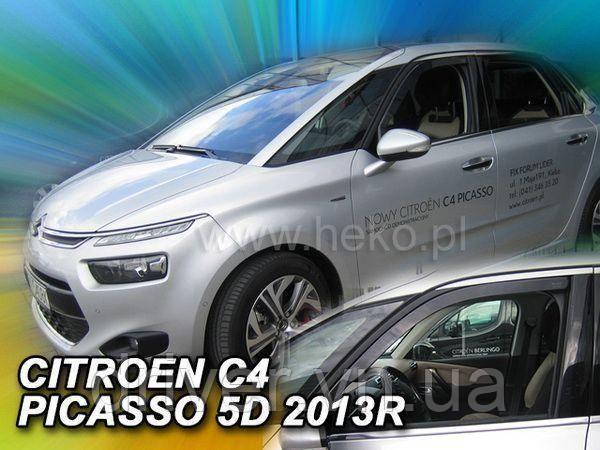 ДефДефлектори вікон вставні Citroen C4 Picasso Mk2 5d 2013+ 4шт
