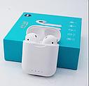 Беспроводные сенсорные наушники TWS KD10 Bluetooth (беспроводной заряд) (Белый), фото 3