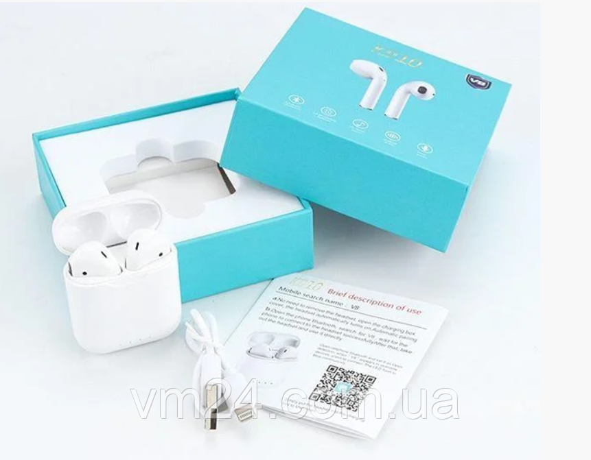 Беспроводные сенсорные наушники TWS KD10 Bluetooth (беспроводной заряд) (Белый)