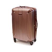 Средний 4-колесный чемодан 56 л Airtex Diome бордовый