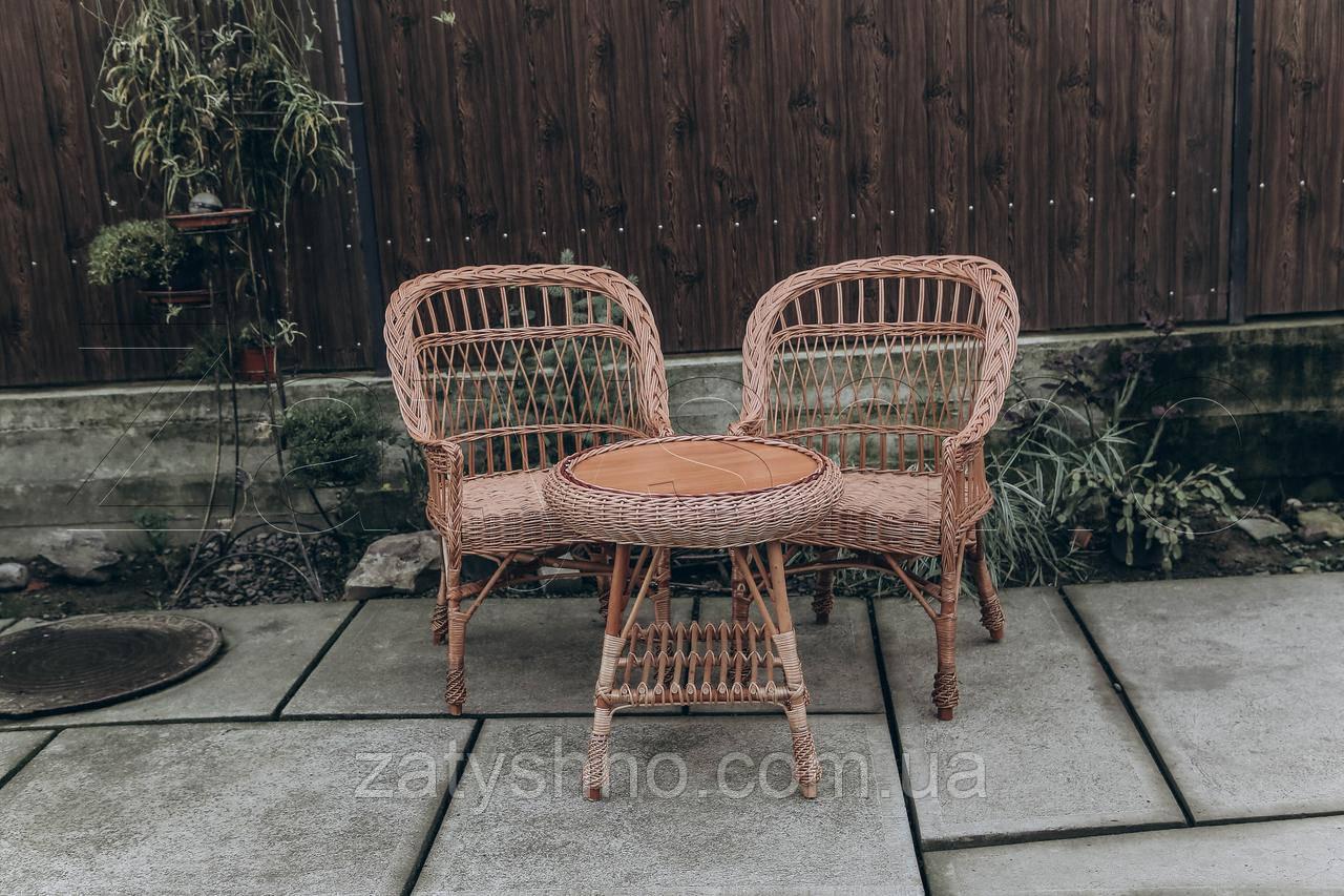 Кресла плетеные с журнальным столом из лозы | кресла плетеные из лозы | плетеные 2 кресла журнальный стол