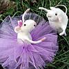 Крыса- балерина, авторская валяная игрушка из шерсти (сухое валяние)