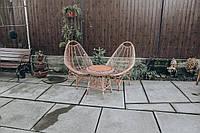 Плетеная мебель в кафе бары рестораны | кресла плетеные из лозы | плетеные 2 кресла стол