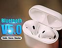 Оригинальные беспроводные Bluetooth Гарнитура i100 + Pop Up (беспроводной заряд) (Белый), фото 3