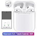 Оригинальные беспроводные Bluetooth Гарнитура i100 + Pop Up (беспроводной заряд) (Белый), фото 2