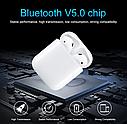 Оригинальные беспроводные Bluetooth Гарнитура i100 + Pop Up (беспроводной заряд) (Белый), фото 5