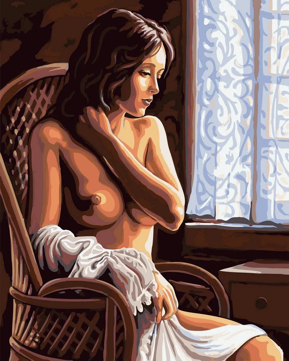 Картина по номерам Красота женского тела GX32506 Rainbow Art 40 х 50 см (без коробки)
