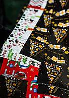 Набор упаковочной бумаги для новогодней упаковки  5 лист, размером 900*640 мм, фото 1