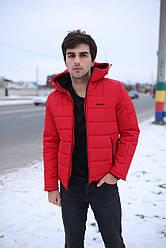 """Куртка мужская зимняя короткая стеганая Intruder """"Impression"""" красная в размере XXL (52/54)"""