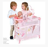 Кровать - манеж - шкаф - стульчик для кормления куклы (Baby Born) TM DeCuevas (высота с каруселью 94 см)