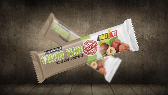 Протеиновый батончик Vegan БЕЗ САХАРА Power Pro 32% 60 г