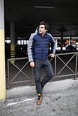 """Куртка мужская зимняя короткая стеганая Intruder """"Impression"""" серая синяя в размере S M L XL XXL, фото 2"""