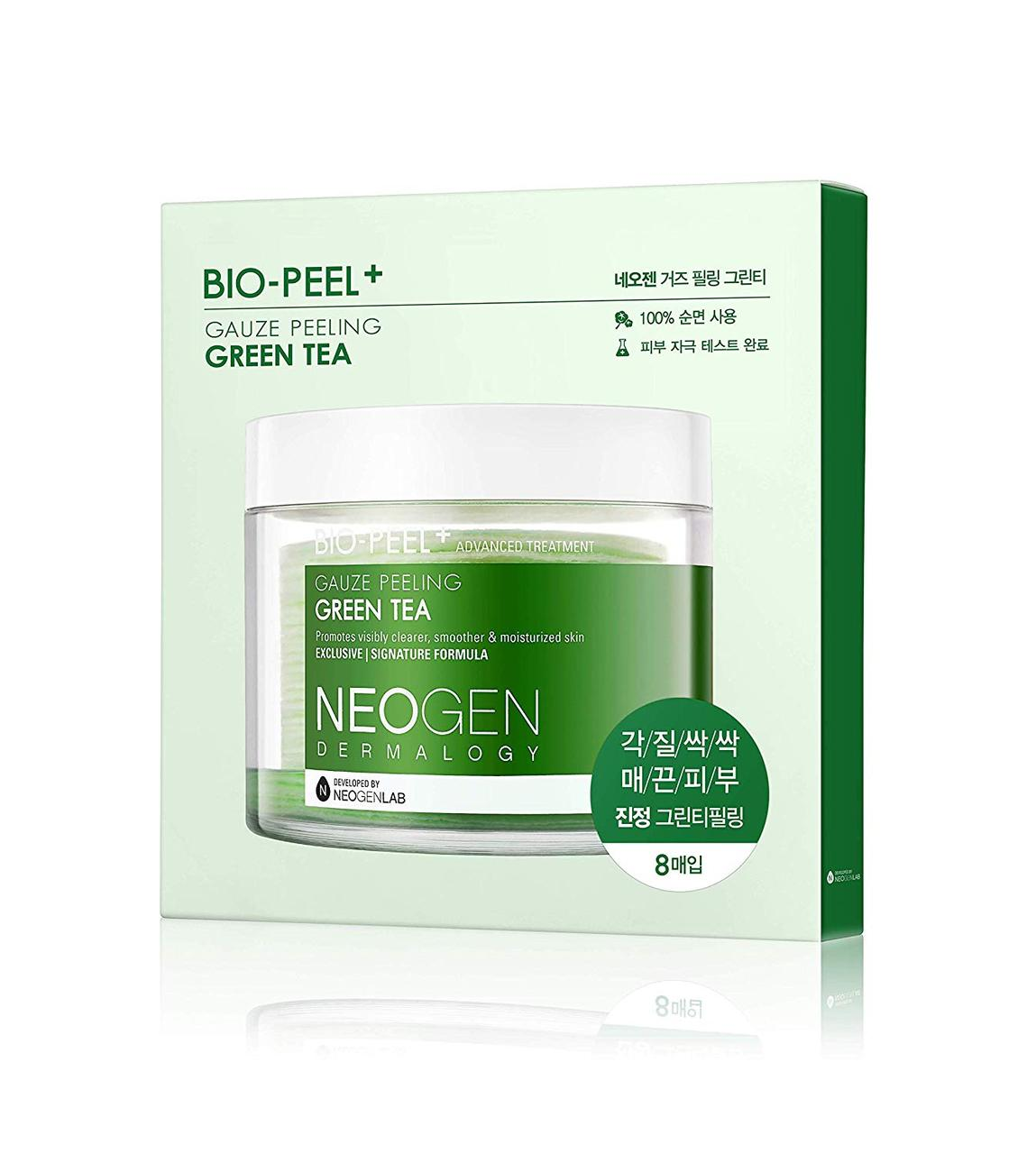 Пилинговые диски с зеленым чаем Neogen Dermalogy Bio Peel Gauze Peeling Green Tea, 8 шт