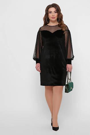 Женское вечернее велюровое платье, р.XL,XXL,XXXL, фото 2