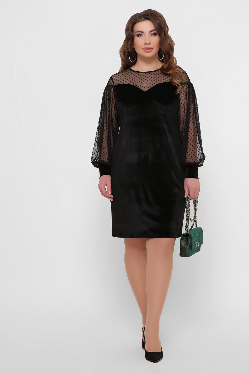 Женское вечернее велюровое платье, р.XL,XXL,XXXL