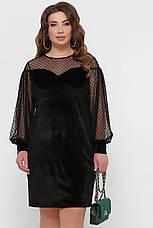 Женское вечернее велюровое платье, р.XL,XXL,XXXL, фото 3