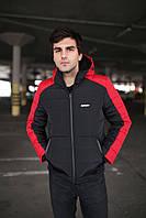 """Куртка мужская зимняя короткая стеганая Intruder """"Impression"""" красно-черная в размере S M L XL"""