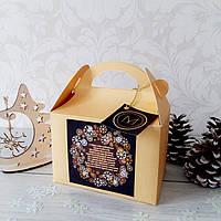 Бонбоньерка коробочка для торта или конфет золотая