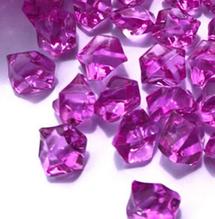 """Декоративный кристалл-бусина """"Искусственный лед"""" , 5 шт, 2 х 2,5 см, цвет малиновый"""