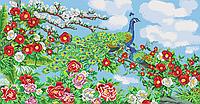 Схема для бисера Райские птицы (голубой фон)