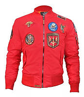Мужская ветровка Top Gun MA-1 Lightweight Nylon Bomber Jacket With Patches TGJ1540P-S (Red), фото 1