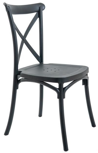 Стілець пластиковий Трієст чорний ТМ Richman