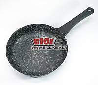 """Сковорода 24см (высота 5,5см) с антипригарным покрытием (цвет - серебряно-белый) БИОЛ """"Элит"""" 2416П"""