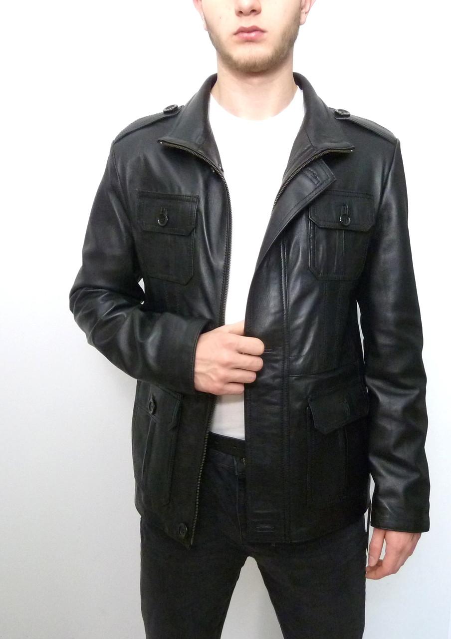 Мужская куртка Eleganza из натуральной кожи. Модель DAMAT размер M