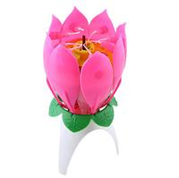 Музыкальная свеча-цветок, 1 шт.
